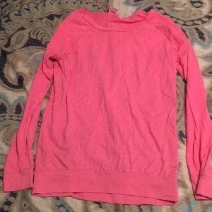 Long Sleeve Pink Victoria's Secret Shirt Size XS